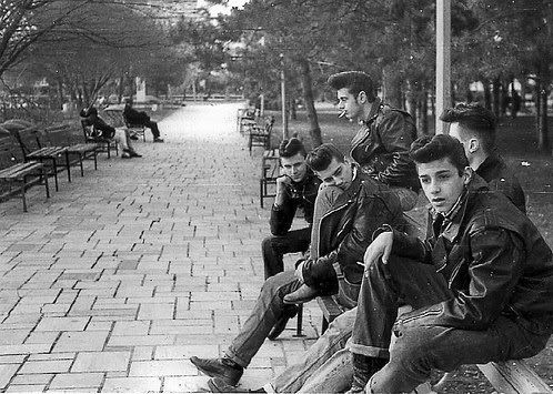 Greasers in NYC, sometime in the mid 1950's